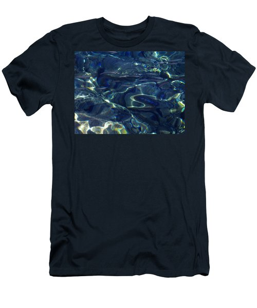 Men's T-Shirt (Slim Fit) featuring the photograph Ocean Water Reflections.santorini Island Greece by Colette V Hera  Guggenheim