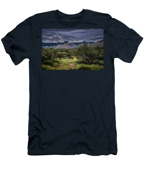 Men's T-Shirt (Athletic Fit) featuring the photograph Odyssey Into Clouds by Mark Myhaver