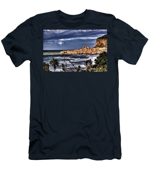 Old Coastal City  Men's T-Shirt (Athletic Fit)