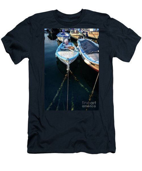 Old Fishing Boats Of The Adriatic Men's T-Shirt (Athletic Fit)