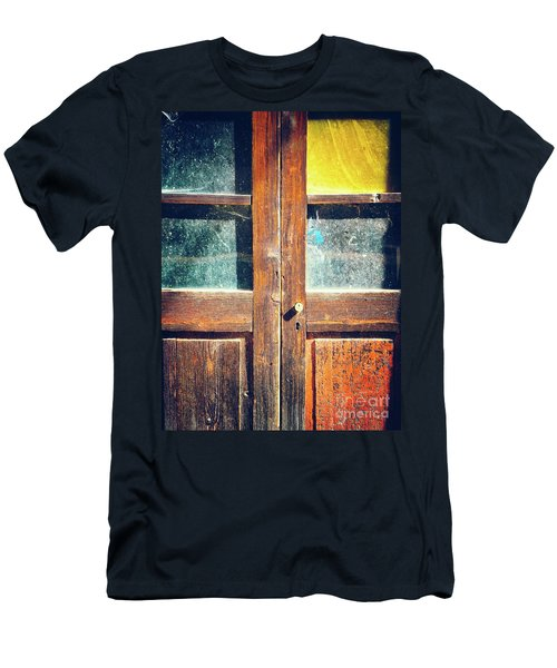 Men's T-Shirt (Athletic Fit) featuring the photograph Old Rotten Door by Silvia Ganora