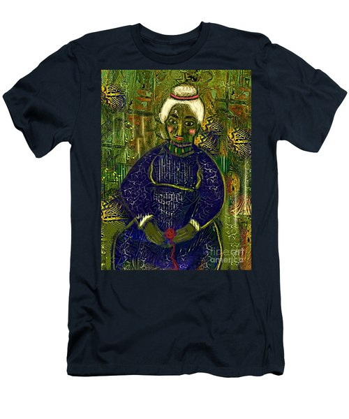 Men's T-Shirt (Slim Fit) featuring the digital art Old Storyteller by Alexis Rotella
