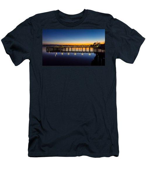 Old Town Pier Blue Hour Sunrise Men's T-Shirt (Athletic Fit)