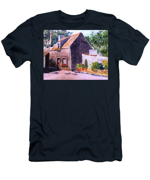 Old Wooden School House Men's T-Shirt (Slim Fit) by Larry Hamilton