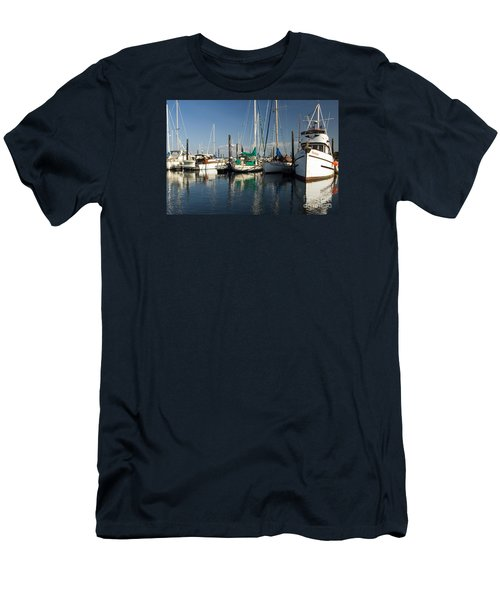 Olympia Marina Men's T-Shirt (Slim Fit) by Chuck Flewelling