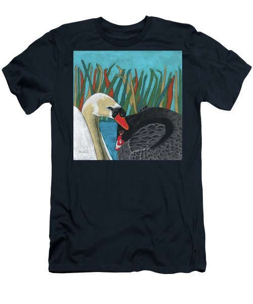 On Peaceful Pond Men's T-Shirt (Athletic Fit)