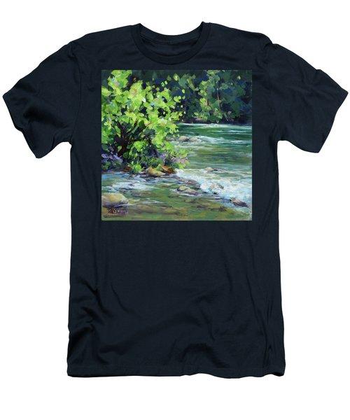 On The River Men's T-Shirt (Slim Fit) by Karen Ilari