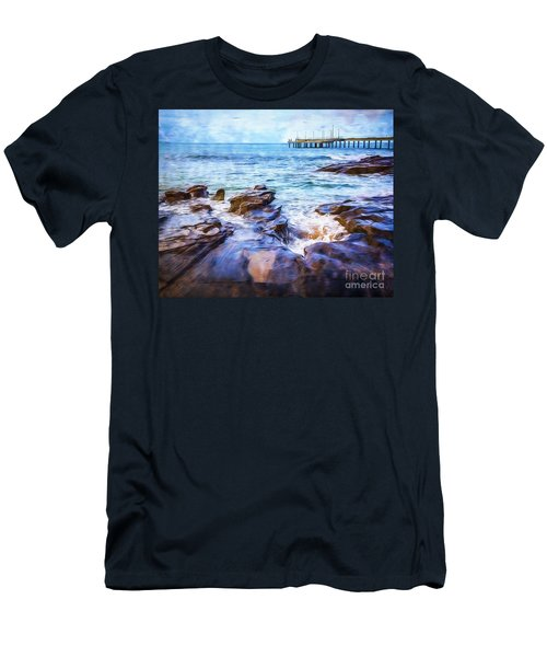 Men's T-Shirt (Slim Fit) featuring the photograph On The Rocks by Perry Webster