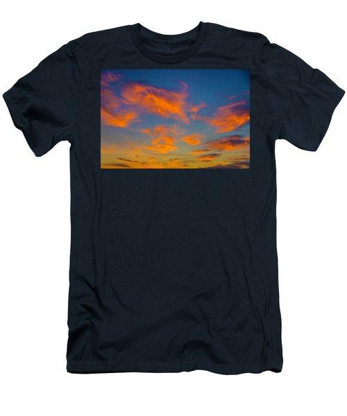 Orange Twllight Clouds Men's T-Shirt (Athletic Fit)