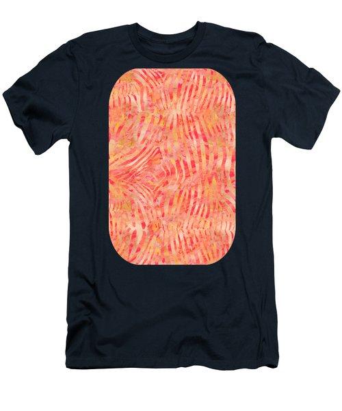 Orange Zebra Print Men's T-Shirt (Athletic Fit)