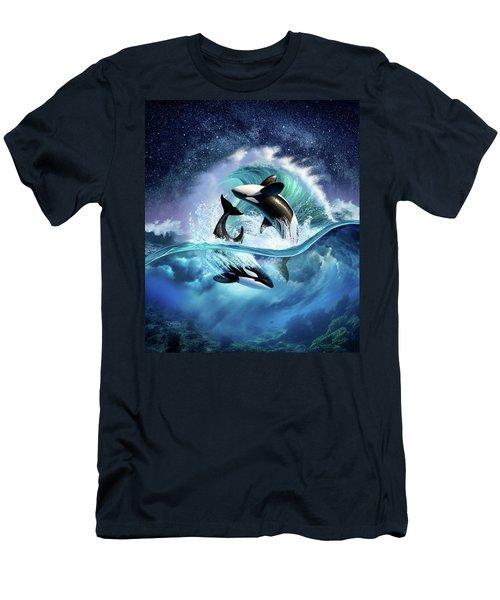 Orca Wave Men's T-Shirt (Athletic Fit)