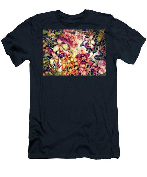 Orchid Garden II Men's T-Shirt (Athletic Fit)