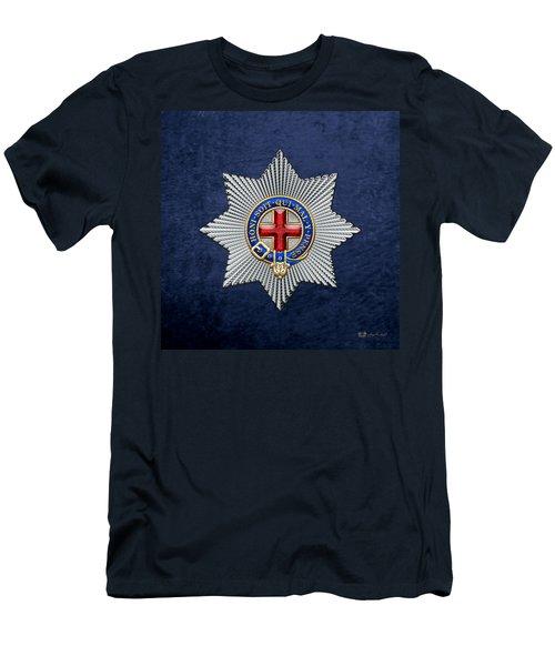 Order Of The Garter Star On Blue  Men's T-Shirt (Athletic Fit)