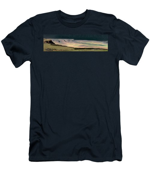 Men's T-Shirt (Slim Fit) featuring the photograph Oregon Canyon Mountain Layers by Leland D Howard