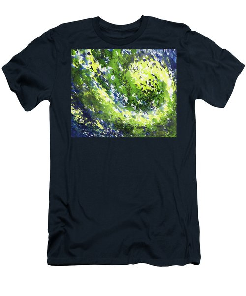Organic Curve Abstract Watercolor Men's T-Shirt (Athletic Fit)
