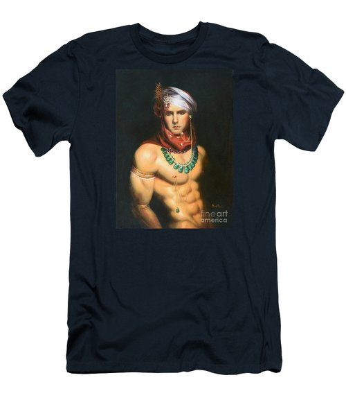 Original Classic Oil Painting Man Body Art-male Nude -068 Men's T-Shirt (Athletic Fit)