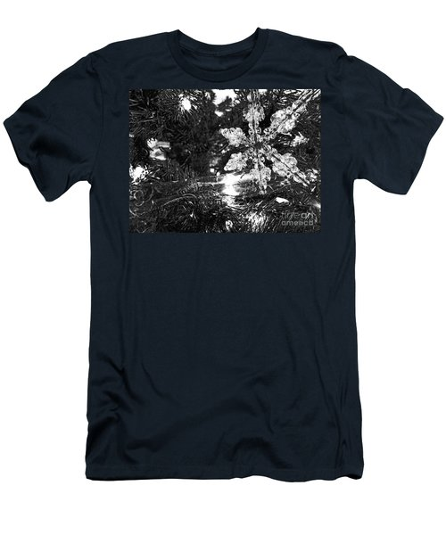 Men's T-Shirt (Athletic Fit) featuring the photograph Ornamental Snowflake by Robert Knight