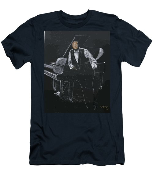 Men's T-Shirt (Athletic Fit) featuring the painting Oscar Peterson by Richard Le Page