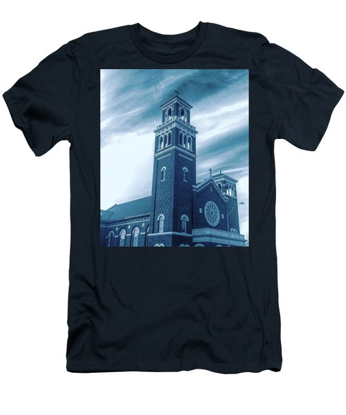 Our Lady Of Sorrows Under Wispy Skies Men's T-Shirt (Athletic Fit)