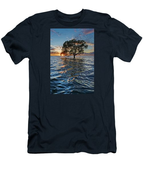 Out At Sea Men's T-Shirt (Slim Fit) by Robert Charity