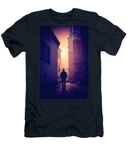 Men's T-Shirt (Slim Fit) featuring the photograph Out Of Time by Jenny Rainbow