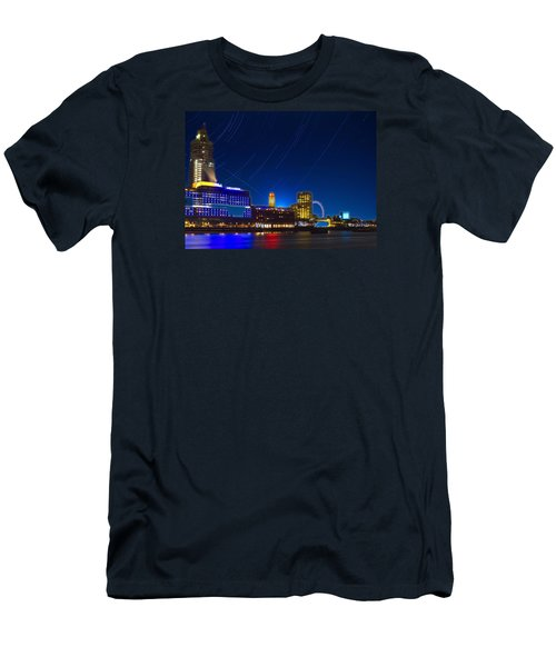 Oxo Tower Star Trails Men's T-Shirt (Slim Fit) by David French