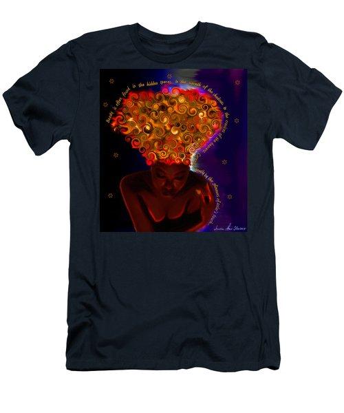 Men's T-Shirt (Slim Fit) featuring the digital art Oya by Iowan Stone-Flowers
