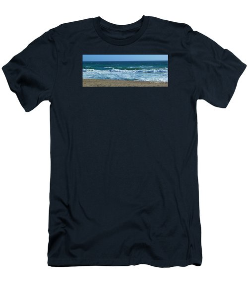 Men's T-Shirt (Slim Fit) featuring the photograph Pacific Ocean - Malibu by Nora Boghossian