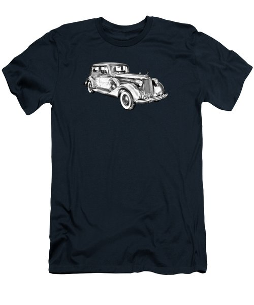 Packard Luxury Antique Car Illustration Men's T-Shirt (Slim Fit) by Keith Webber Jr