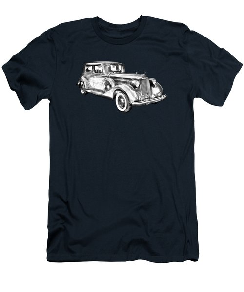 Packard Luxury Antique Car Illustration Men's T-Shirt (Athletic Fit)