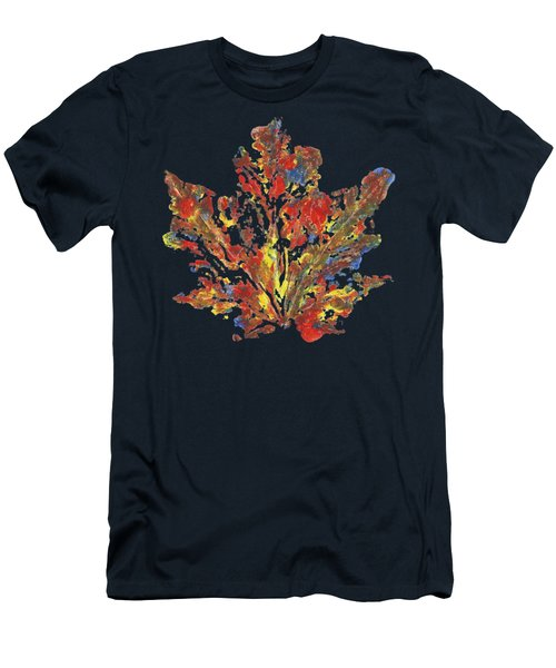 Men's T-Shirt (Athletic Fit) featuring the painting Painted Nature 1 by Sami Tiainen