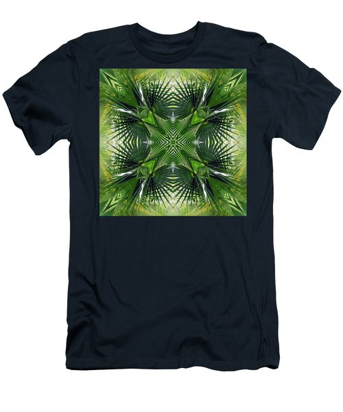 Men's T-Shirt (Slim Fit) featuring the photograph Palm Frond Kaleidoscope by Francesa Miller