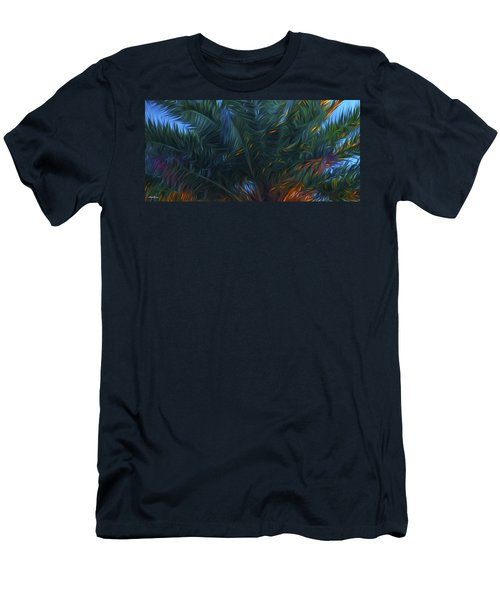 Palm Tree In The Sun Men's T-Shirt (Slim Fit) by Glenn Gemmell