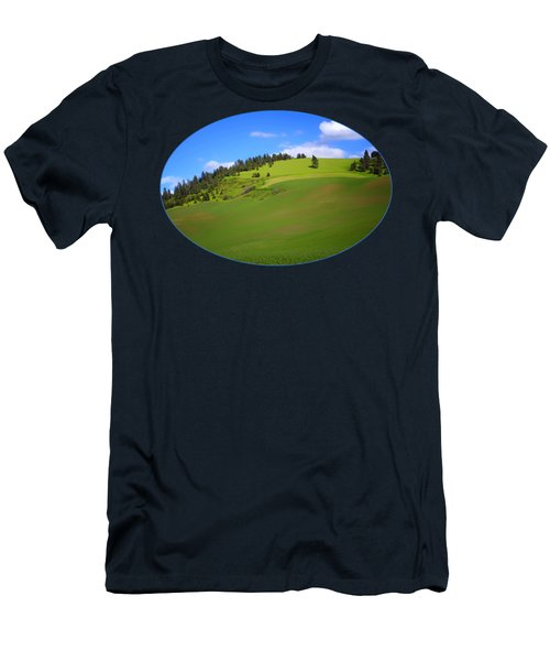 Palouse - Landscape - Transparent Men's T-Shirt (Slim Fit) by Nikolyn McDonald