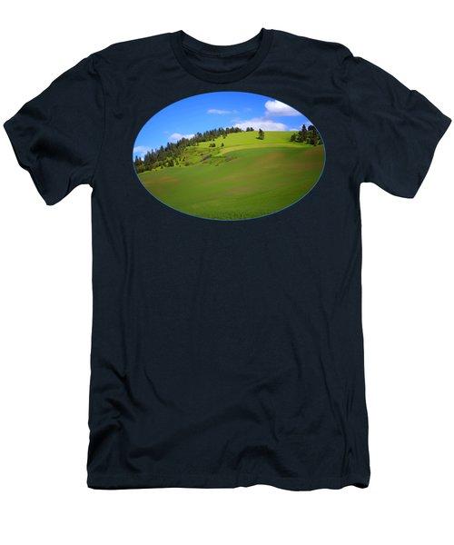 Palouse - Landscape - Transparent Men's T-Shirt (Athletic Fit)