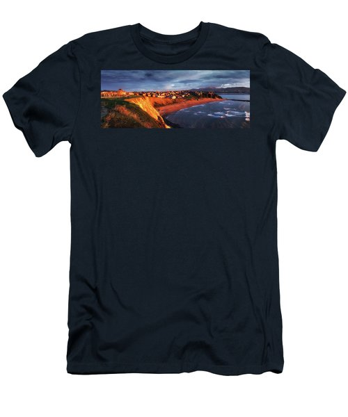Panorama Of Aixerrota Sunset Men's T-Shirt (Athletic Fit)
