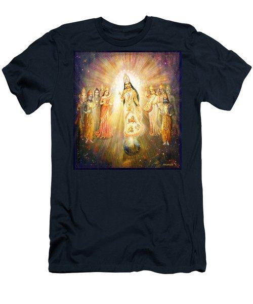 Parashakti Devi - The Great Goddess In Space Men's T-Shirt (Slim Fit) by Ananda Vdovic