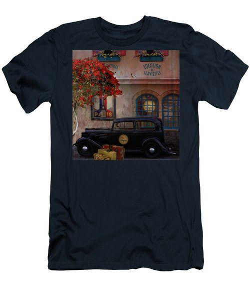 Men's T-Shirt (Slim Fit) featuring the digital art Paris In Spring by Jeff Burgess