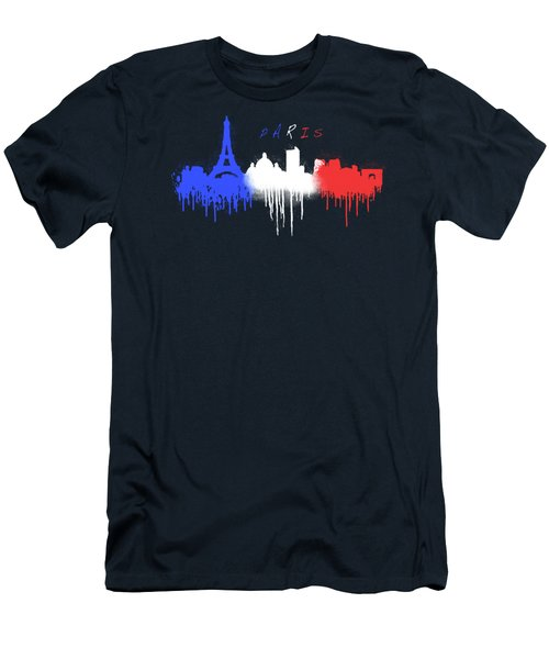 Paris Skyline  Men's T-Shirt (Athletic Fit)