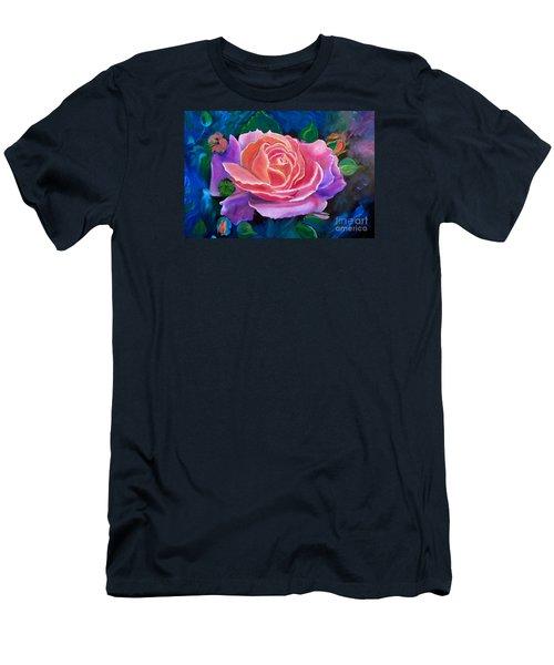 Gala Rose Men's T-Shirt (Slim Fit) by Jenny Lee