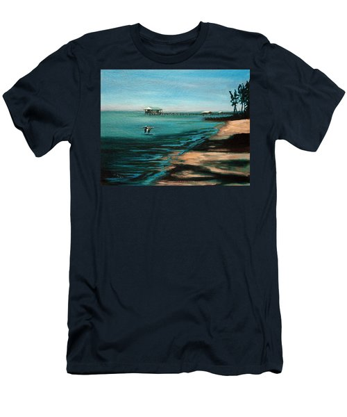 Men's T-Shirt (Slim Fit) featuring the painting Passing By Again by Suzanne McKee