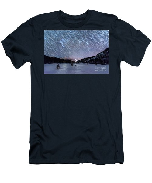 Men's T-Shirt (Athletic Fit) featuring the photograph Passing Time by Bitter Buffalo Photography