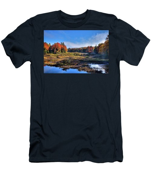 Men's T-Shirt (Slim Fit) featuring the photograph Patches Of Fog At The Green Bridge by David Patterson