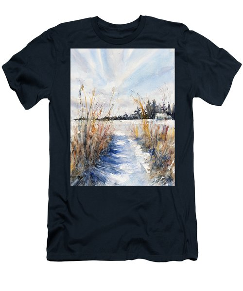 Path Shadows In The Way Back Men's T-Shirt (Slim Fit) by Judith Levins