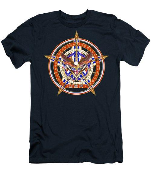Patroitic-veteran Men's T-Shirt (Slim Fit) by Bill Campitelle
