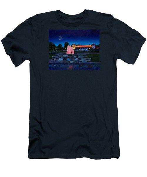 Pavilion Fountains Men's T-Shirt (Slim Fit) by Michael Frank