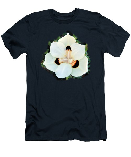 Peacock Flower T-shirt Men's T-Shirt (Slim Fit) by Isam Awad
