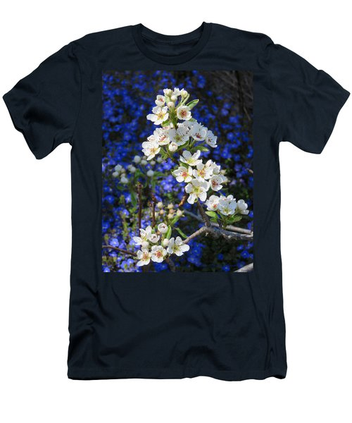 Pear Blossoms And Georgia Blue 2 Men's T-Shirt (Athletic Fit)