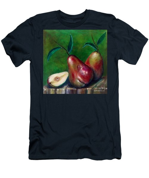 Men's T-Shirt (Athletic Fit) featuring the painting Pears Still Life by Thomas Lupari
