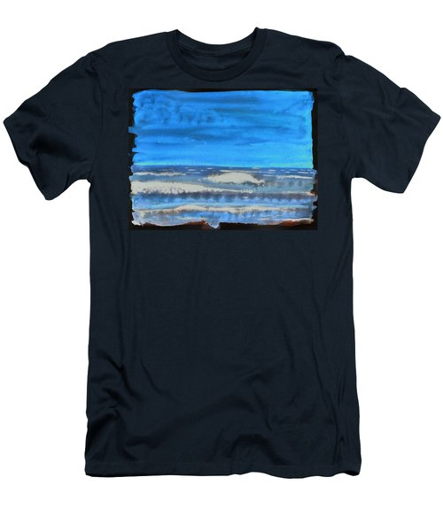 Men's T-Shirt (Athletic Fit) featuring the painting Peau De Mer by Marc Philippe Joly